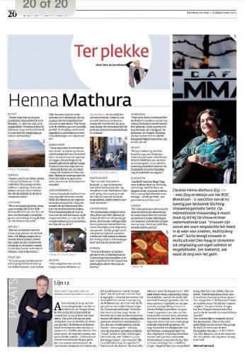 Henna Mathura internationale vrouwendag 2015